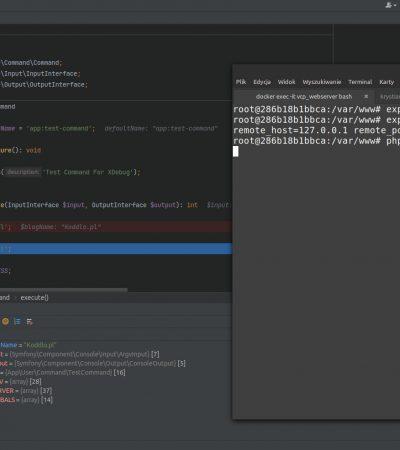 Zdjęcie z debugowania PHPStorm